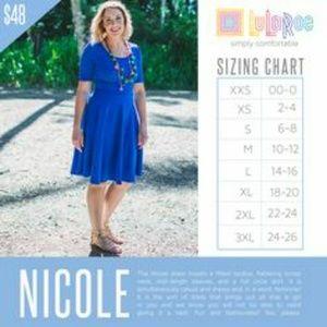 LuLaRoe Dresses - Lularoe NICOLE Pastel Leaf Look Dress